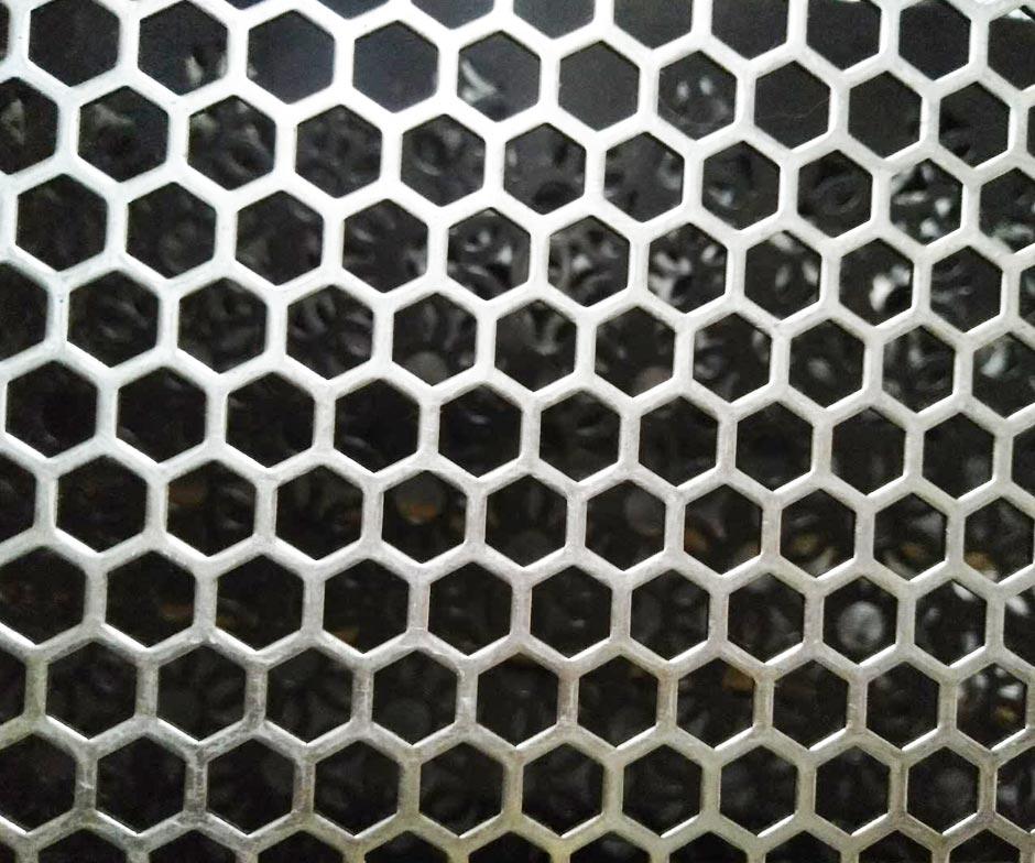 Hexagonal Hole Perforated Metal